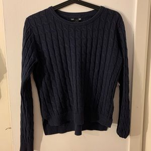 Navy blue knitted soft sweater